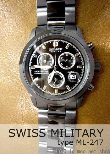 【7年保証】送料無料 スイスミリタリー エレガントクロノメンズ 男性用 腕時計 【ML-247】 (正規輸入品)SWISS MILITARY ELEGANT CHRONO