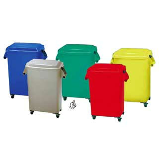 厨房ペール[キャスター付] CK-45 グリーン 【 ペール バケツ ゴミ箱 大型ごみ箱 キッチン 】
