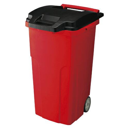 キャスターペール90L GGYE017 レッド 1個 リス 【ゴミ箱 日用雑貨 ゴミ箱 380784】【メーカー直送/代金引換決済不可】