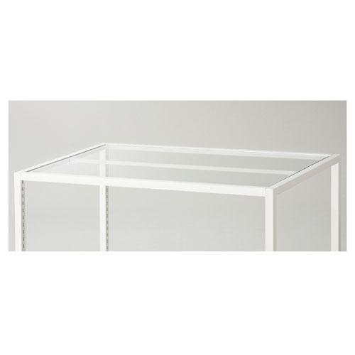 スクエアフレーム用天板 W120×D90cm用 ガラス天板【店舗什器 パネル 壁面 店舗備品 仕切 棚】