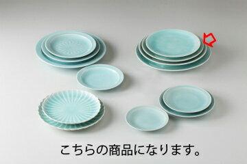 【まとめ買い10個セット品】和食器 手彫青白瓷 丸8.0皿 35K212-19 まごころ第35集 【キャンセル/返品不可】