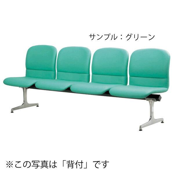 ロビーチェア〔ピンク〕 RD-KN44〔背なし4人用〕〔PK〕【 椅子 洋風 オフィスチェア ベンチ 】【受注生産品】【メーカー直送品/代引決済不可】