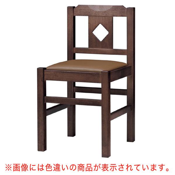 菱江D椅子 黒レザー | 張地:オールマイティー 6416 シンコール 【メーカー直送品&代金引換決済不可商品】