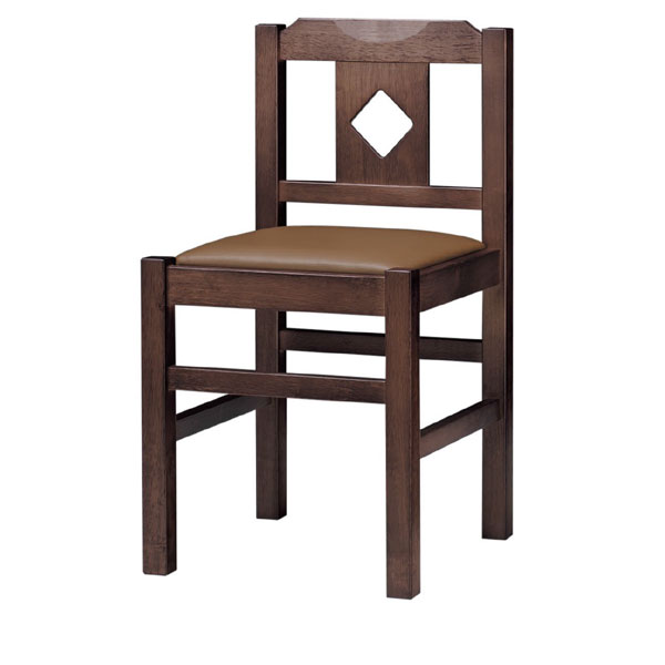 菱江D椅子 茶レザー | 張地:オールマイティー 6439 シンコール 【メーカー直送品&代金引換決済不可商品】