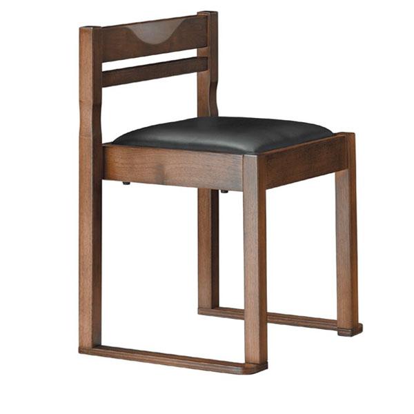 有田D椅子 黒レザー   張地:クレンズII 6291 シンコール 【メーカー直送品&代金引換決済不可商品】