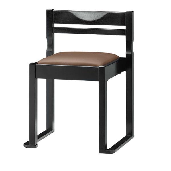 有田B椅子 茶レザー   張地:クレンズII 6297 シンコール 【メーカー直送品&代金引換決済不可商品】