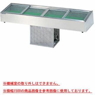 大穂製作所 炉端ケース OHRUa-G-1500(はねあげ扉) 幅1500×奥行350×高さ215mm 【 メーカー直送/代引不可 】