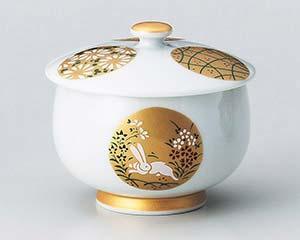 【まとめ買い10個セット品】和食器 ウ380-016 金銀丸紋蓋付煎茶 【キャンセル/返品不可】