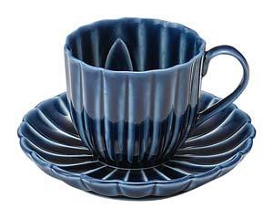 【まとめ買い10個セット品】和食器 イ422-176 茄子紺 BLUE デミタス碗皿 【キャンセル/返品不可】