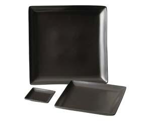 【まとめ買い10個セット品】和食器 ホ510-496 スタイルI黒27cm角皿 【キャンセル/返品不可】