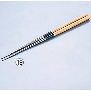 純チタン盛箸[栗材柄] 135mm 【 業務用 】【 菜箸 盛り箸 】 【20P05Dec15】 メイチョー