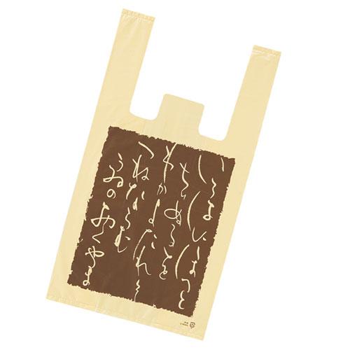 レジ袋 いろは 18×35(23)×横マチ10 6000枚【店舗什器  小物 ディスプレー ギフト ラッピング 包装紙 袋 消耗品 店舗備品】