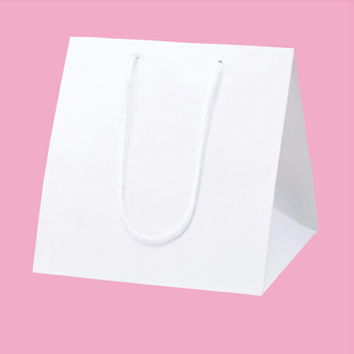 アレンジ�ッグ 白 28.5×28×30 50枚�店舗什器  �物 ディスプレー ギフト ラッピング 包装紙 袋 消耗� 店舗備�】