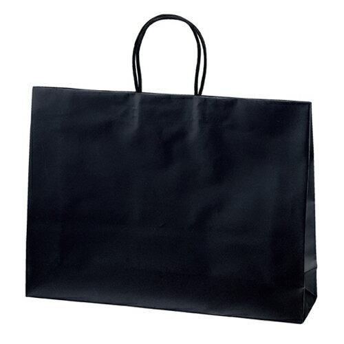 手提げ紙袋 マットバッグ ブラック 43×11×32 100枚【 ラッピング用品 包装 ラッピング袋 紙袋 ペーパーバッグ 中身が見えにくい 無地 手提げ袋 手提げ紙袋 消耗品 業務用 】