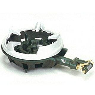 【 業務用 】タチバナ製作所 二重羽根付・種火なし 五徳セット ガスコンロ TS-210HS