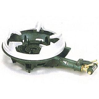 【 業務用 】タチバナ製作所 ニ重羽根なし・種火付 五徳セット ガスコンロ TS-210PS