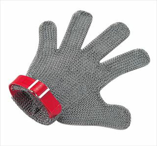 【 業務用 】ニロフレックス メッシュ手袋5本指 M M5L-EF 左手用(赤)