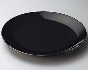 【まとめ買い10個セット品】和食器 ス228-056 黒釉12号丸皿 【キャンセル/返品不可】【厨房館】