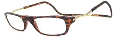 フロントマグネット式老眼鏡 ブラウン+3.0