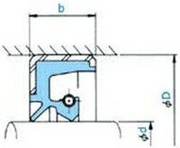 NOK オイルシール TB31037028 (AD5676A0) 大径TB型