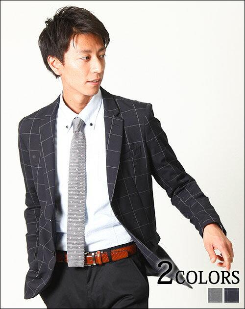 【送料無料】テーラードジャケット ジャケット メンズ テーラード チェック 日本製    メンズファッション