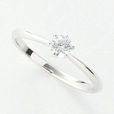 オーダーメイドジュエリー エンゲージリング Pt900/プラチナ 1粒 ダイヤモンド VS-2/D~Fカラー(D/0.2ct) 6本爪 リング 指輪 婚約 結婚 マリッジ