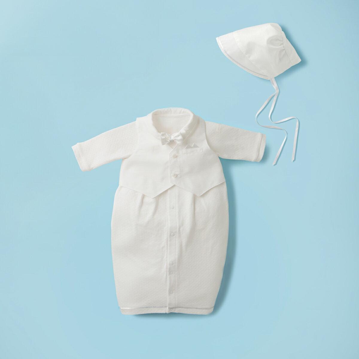 ベスト&蝶ネクタイ付き天竺素材のツーウェイオールセット(50cm-60cm)
