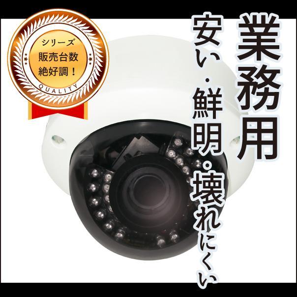 【新品】【NSS製】防犯カメラ・ネットワークカメラ・監視カメラ・業務用TVIフルHDワンケーブル暗視バリフォーカルドーム型カメラ F=2.8~12mm 赤外線照射20m