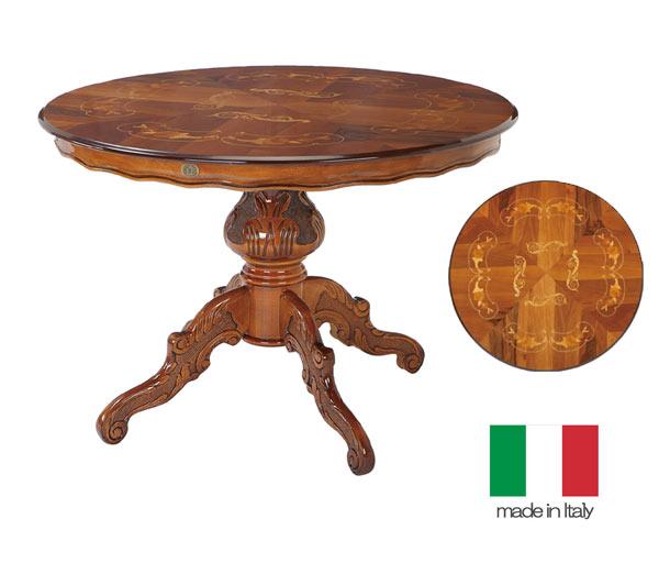 101周年感謝祭 イタリア製 鏡面仕上げ クラッシック 円形 ダイニングテーブル 110幅 送料無料 hgs  サルタレッリ