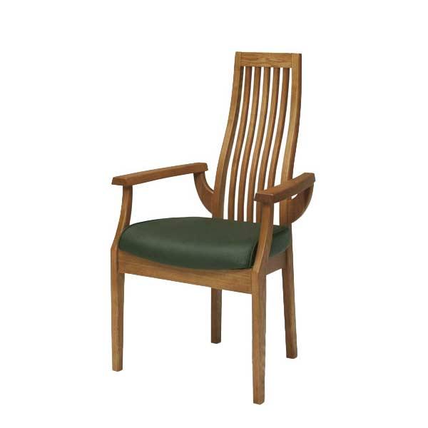 【ポイント最大36倍+5倍】ダイニングチェア(肘付き) アームチェア 食卓チェア 椅子 チェアー タモ無垢材 北欧家具 モダンデザイン GSR