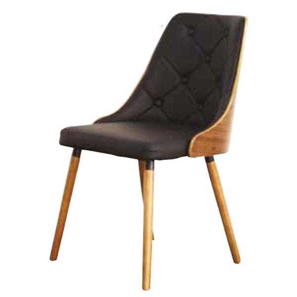 椅子 ミッドセンチュリー ダイニングチェア デザイナーズチェアー レザー  ウォールナット成型合板 曲げ木北欧風