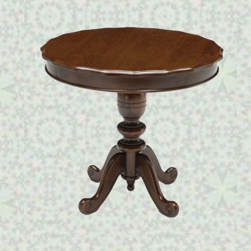 イギリス式アンティーク調 ダイニングテーブル 80丸  【輸入家具】