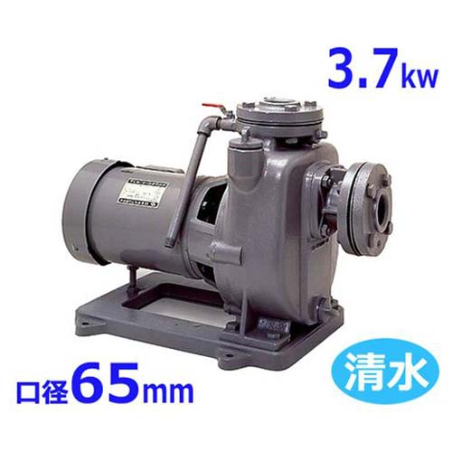 寺田ポンプ 自吸式モーターポンプ MPJ5-53.71E・MPJ5-63.71E (口径65mm/三相200V/3.7kw) [テラダポンプ 設備用ポンプ 陸上ポンプ]