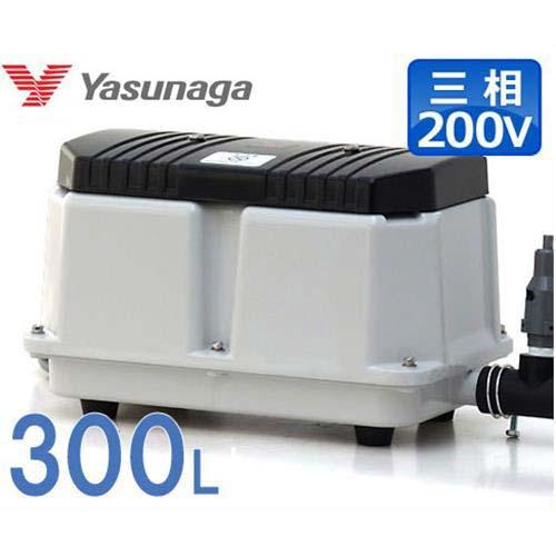 安永エアポンプ 浄化槽エアーポンプ LW-3003 (三相200V/300L/ダブルポンプ型)
