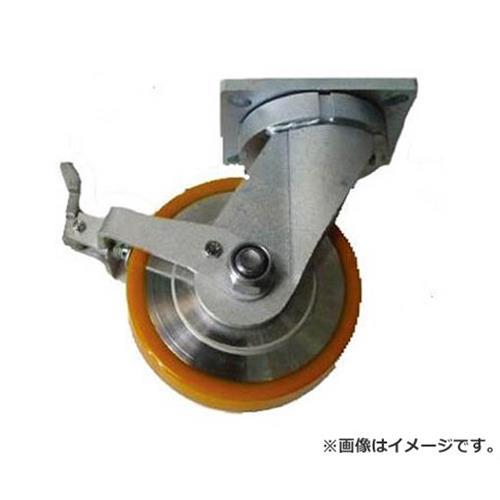 ヨドノ 超重量用高硬度ウレタン自在車ストッパー付 2000kg用 HDUJ200ST [r20][s9-910]
