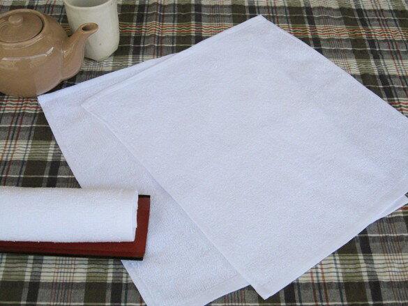 業務用定番おしぼり 100匁 白平織 28×32 1200枚セット【おしぼりタオル】