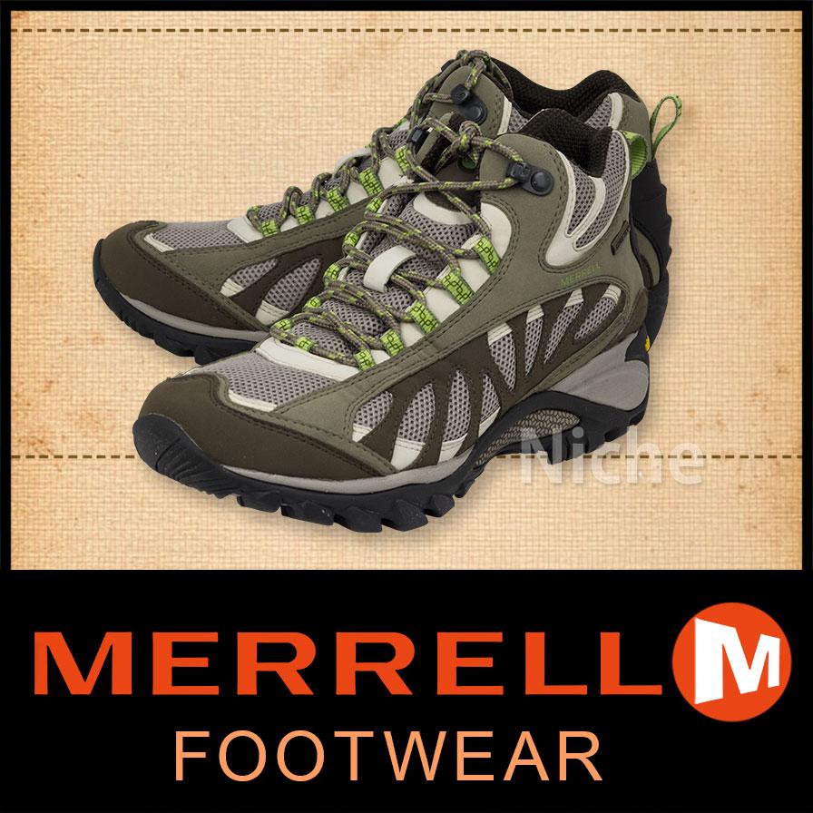 早期完売 メレル サイレン ベンチレーター ミッド ゴアテックス レディース (Olive) [ W16042 ]  [ MERRELL メレル ブーツ | メレル シューズ | トレッキングシューズ | トレッキングブーツ | 登山靴 ][nocu]