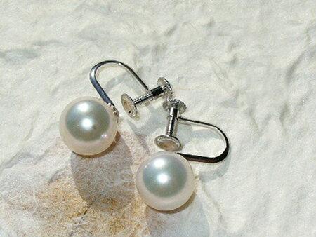 7.5ミリパールイヤリング(あこや真珠/ホワイト色)