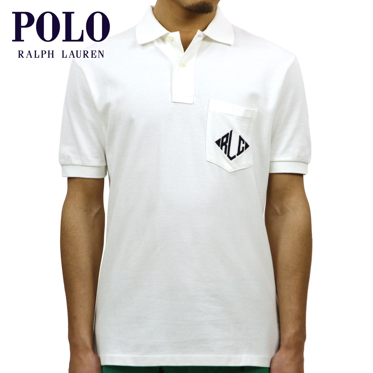 【販売期間 3/2 19:00~3/8 9:59】 ポロ ラルフローレン POLO RALPH LAUREN 正規品 メンズ ポロシャツ Classic-Fit Monogram Polo WHITE