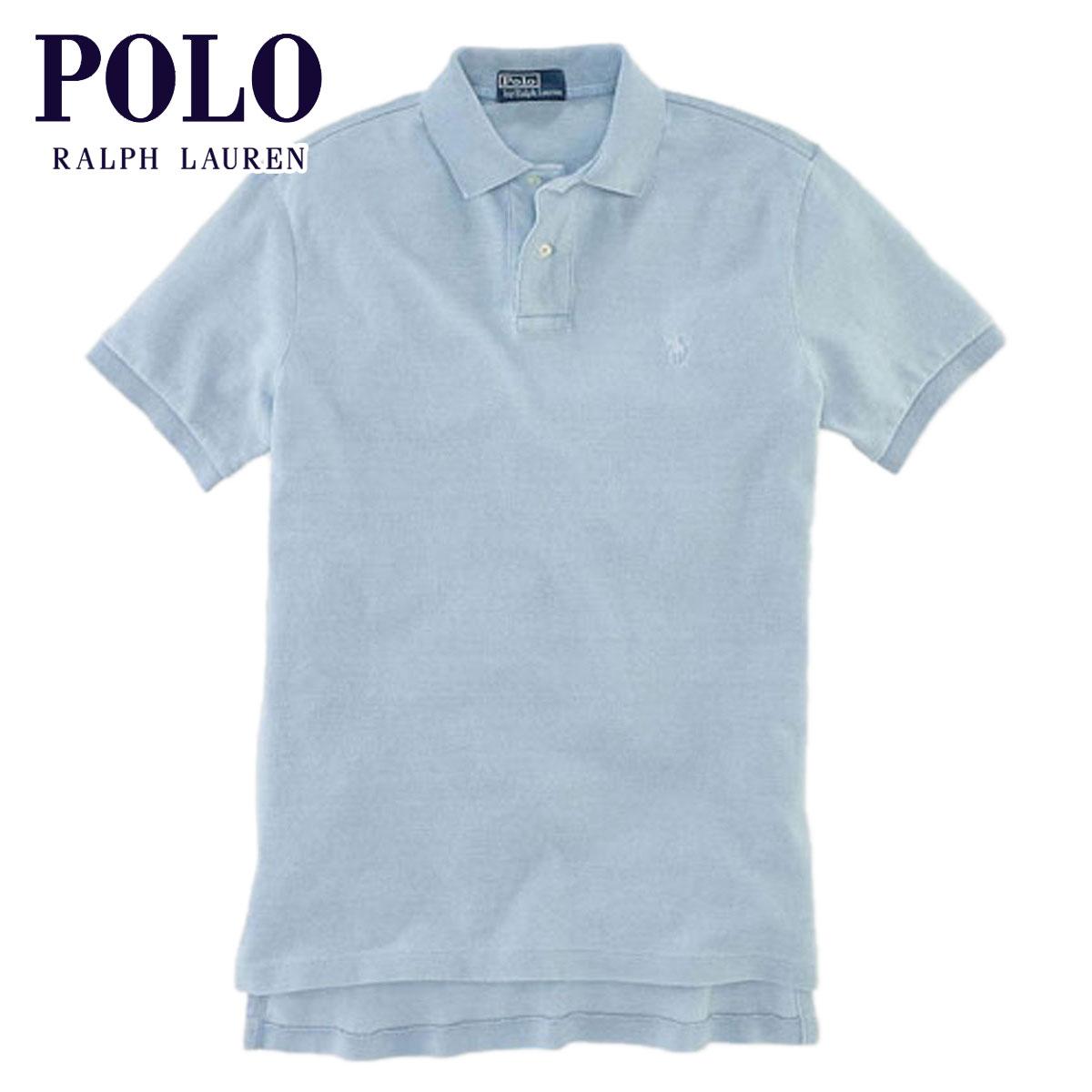 【販売期間 3/2 19:00~3/8 9:59】 ポロ ラルフローレン POLO RALPH LAUREN 正規品 メンズ ポロシャツ Custom-Fit Indigo Polo LIGHT BLUE