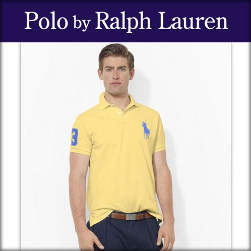 【販売期間 3/2 19:00~3/8 9:59】 ポロ ラルフローレン POLO RALPH LAUREN 正規品 メンズ ポロシャツ Custom-Fit Big Pony Polo YELLOW