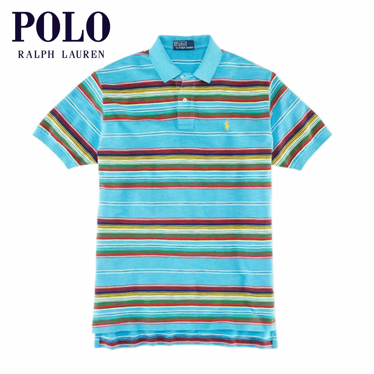 【販売期間 3/2 19:00~3/8 9:59】 ポロ ラルフローレン POLO RALPH LAUREN 正規品 メンズ ポロシャツ Classic-Fit Multi-Striped Polo BLUE