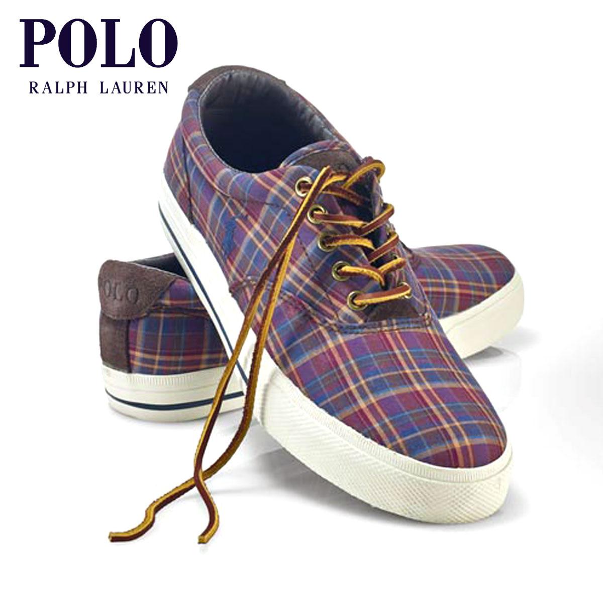 【ポイント10倍 9/15 10:00~9/19 9:59まで】 ポロ ラルフローレン POLO RALPH LAUREN 正規品 メンズ 靴 シューズ PLAID TWILL VAUGHN SNEAKER