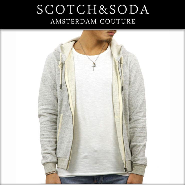 スコッチアンドソーダ SCOTCH&SODA 正規販売店 メンズ ジップアップパーカー HOME ALONE ZIP THROUGH HOODED SWEAT 134322 98 GREY ME