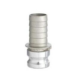 フィットトヨックス カムロックアダプター ホースシャンク(樹脂ホース用)  アルミ合金製 4インチ 633-ET-4A