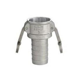 フィットトヨックス カムロックカプラー ホースシャンク(樹脂ホース用) ステンレス製 1.5インチ 633-CT-1.5S