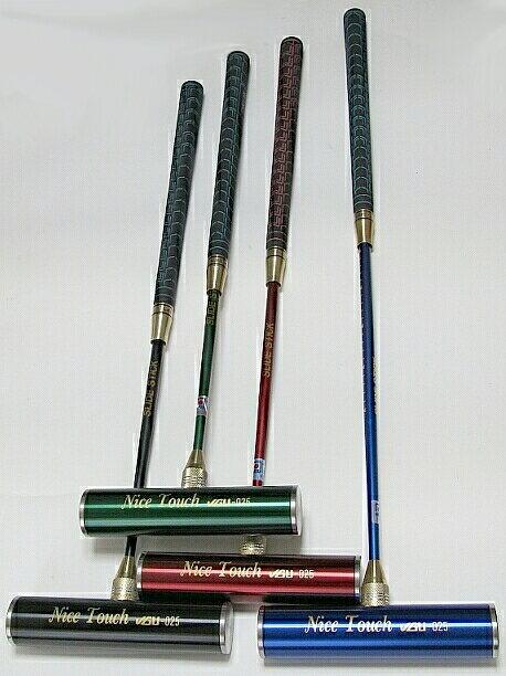 ゲートボールスティック 伸縮タイプ 45×200ステンレスヘッド・丸ゴムグリップ回転式スライド型シャフト ゲートボール用品