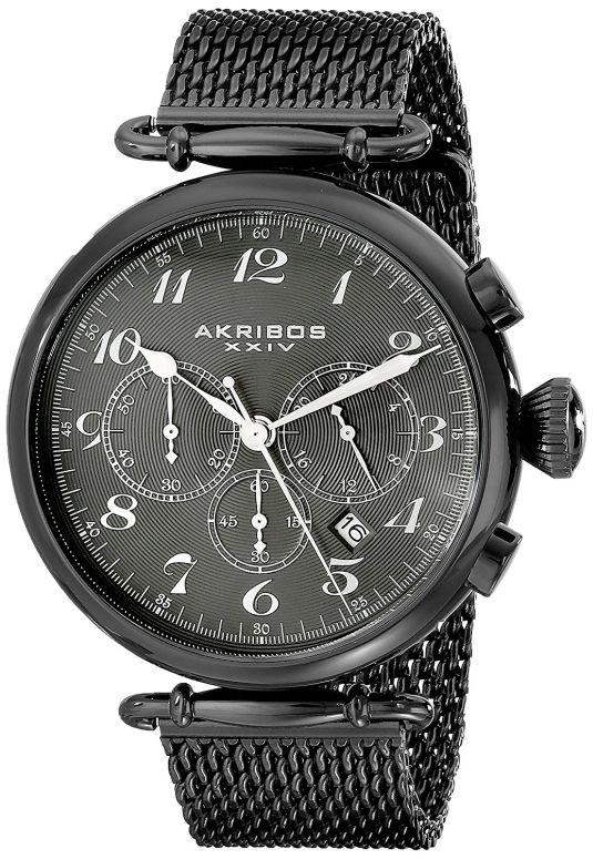 アクリボス Akribos XXIV 男性用 腕時計 メンズ ウォッチ クロノグラフ ブラック AK627BK 送料無料