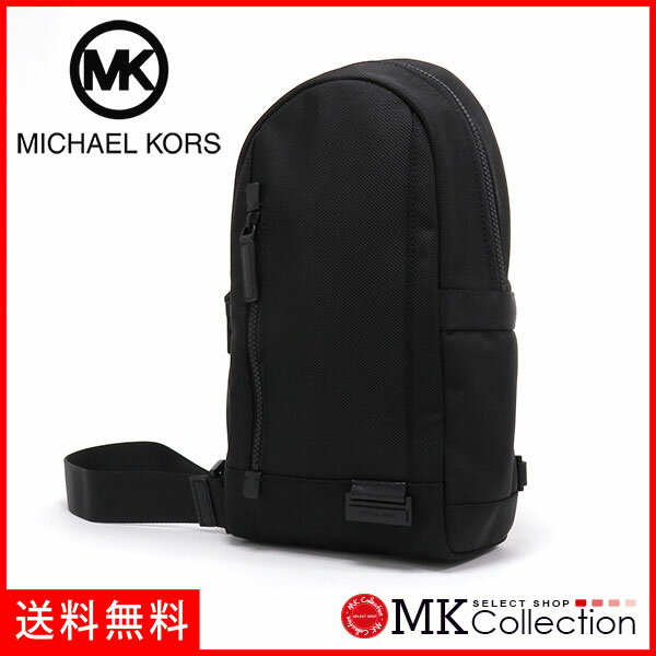 マイケルコース ワンショルダー ボディバッグ メンズ レディース MICHAEL KORS bag ナイロン×レザー ブラック 37T6TVSC8C BLACK 【当店全品送料無料♪】