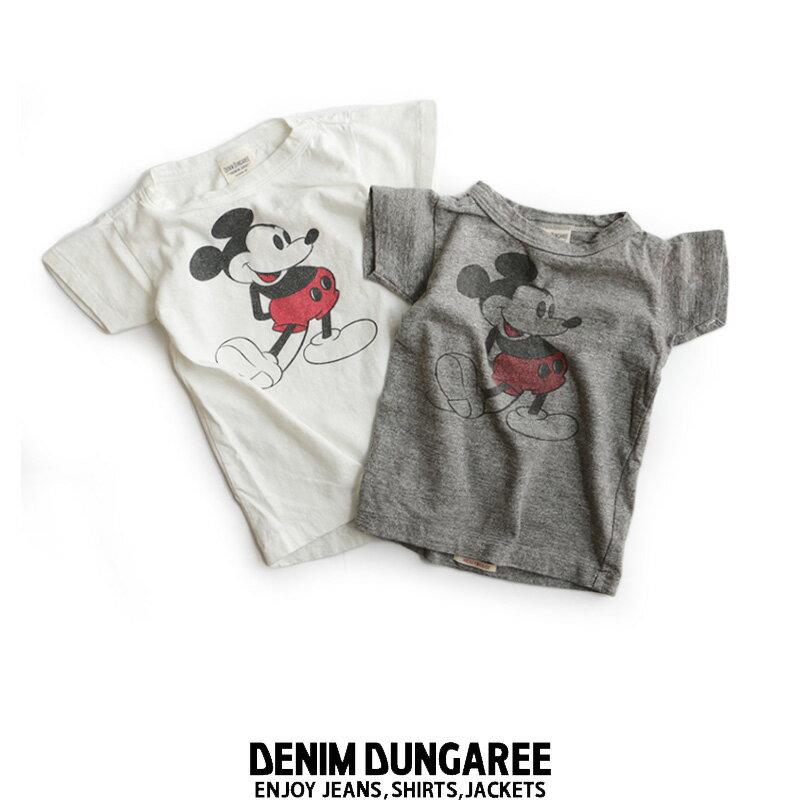 a【SALE★対象外】【Kids】【100cm/110cm】DENIM DUNGAREE デニム&ダンガリー ミッキーTシャツ 3772456【RCP】